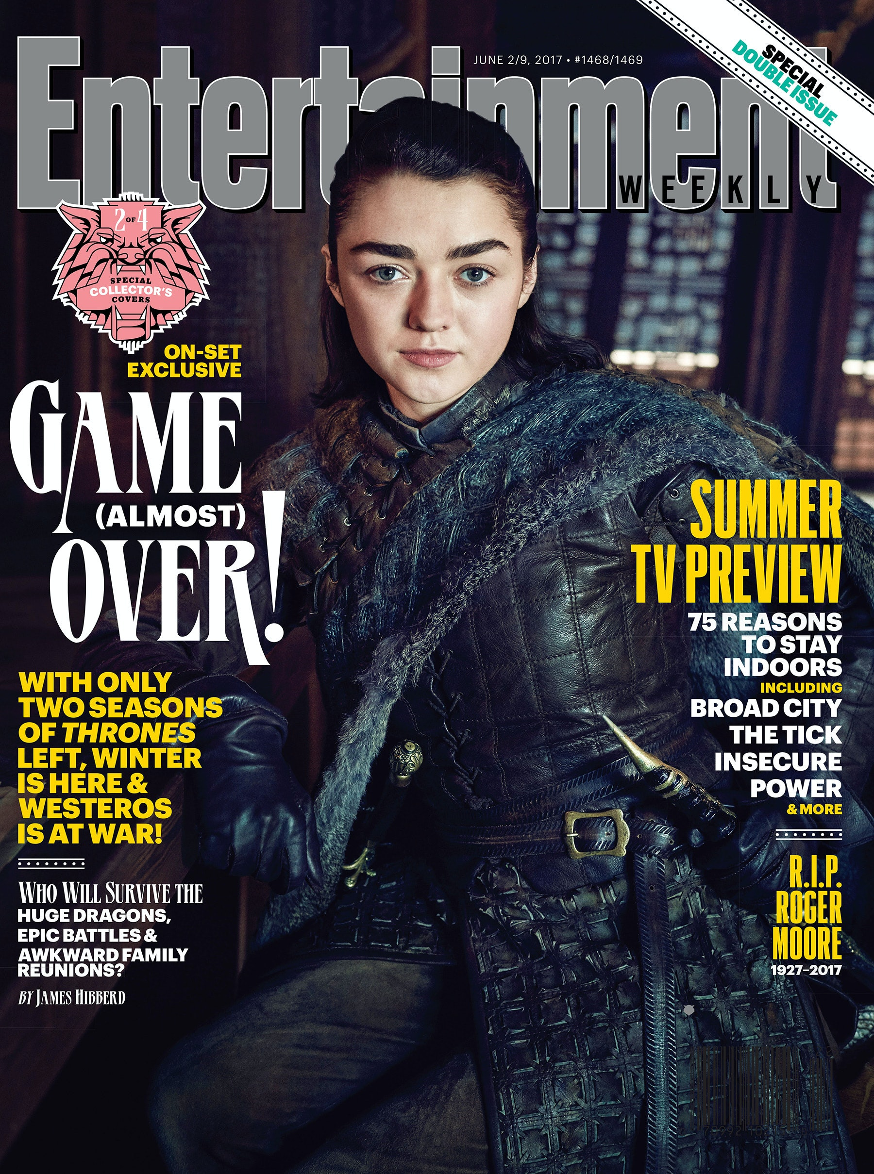 You can clearly see Needle, which means that must be the catspaw dagger on Arya'sleft hip.