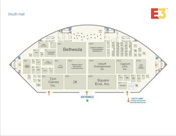 E3 2019 floor plan