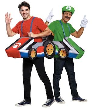 Adult Mario Kart & Luigi Kart Ride-On Couples Costumes
