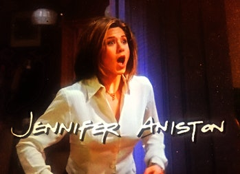 The definitive Jennifer Aniston opening face from the Friends credits