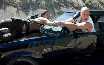 Michelle Rodriguez and Vin Diesel in 'Fast & Furious 8'