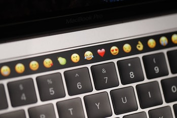 MacBook Pro touch bar.