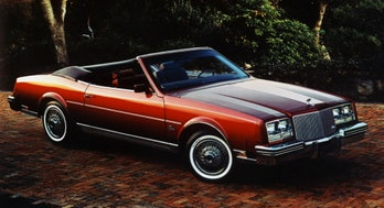 The 1982 Buick Riviera convertible.
