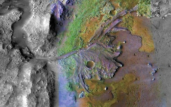 Jezero Crater topography on Mars