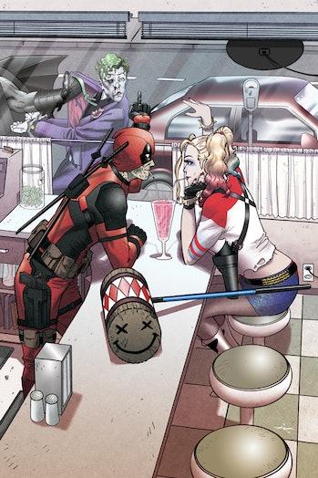 Deadpool and Harley Quinn fanart by Ian Navarro