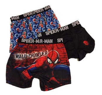 Fashion Marvel Comics Spider-Man Action Underwear 3 Pack Boxer Briefs