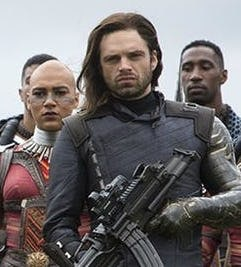 Bucky's new arm is much different than his last one.