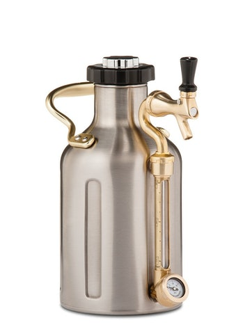GrowlerWerks uKeg Pressurized Growler, 64 oz, Stainless Steel GrowlerWerks uKeg Pressurized Growler, 64 oz, Stainless Steel