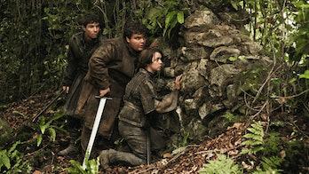 Joe Dempsie as Gendry Waters and Maisie Williams as Arya Stark in 'Game of Thrones' Season 3