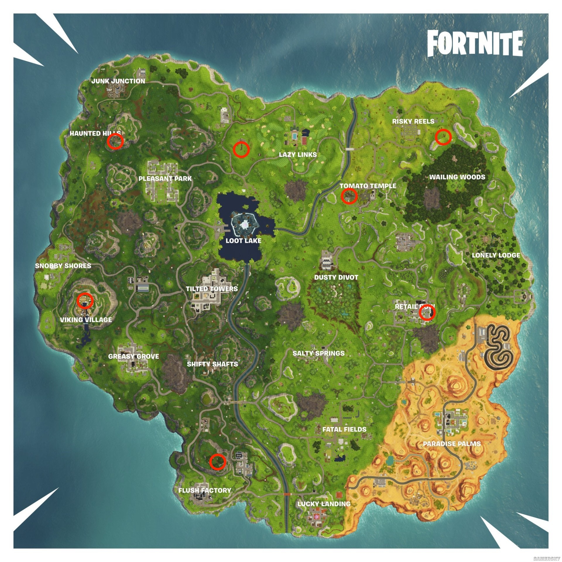 'Fortnite' Fortnitemares Gargoyle Locations Map