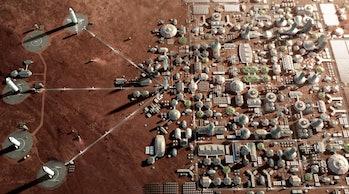 A Mars city.