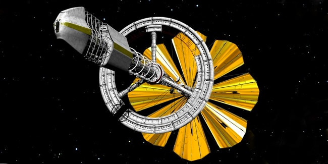 A concept of a solar-sailing starship capable of travelling interstellar distances to other stars