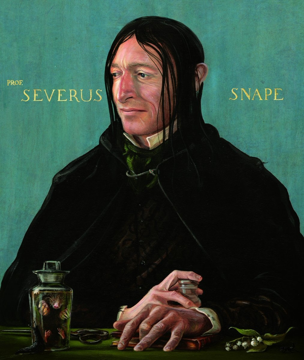 Severus Snape in the new 'Harry Potter and the Prisoner of Azkaban' Illustrated Edition