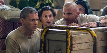 Some cast members of 'Prison Break: Resurrection'.
