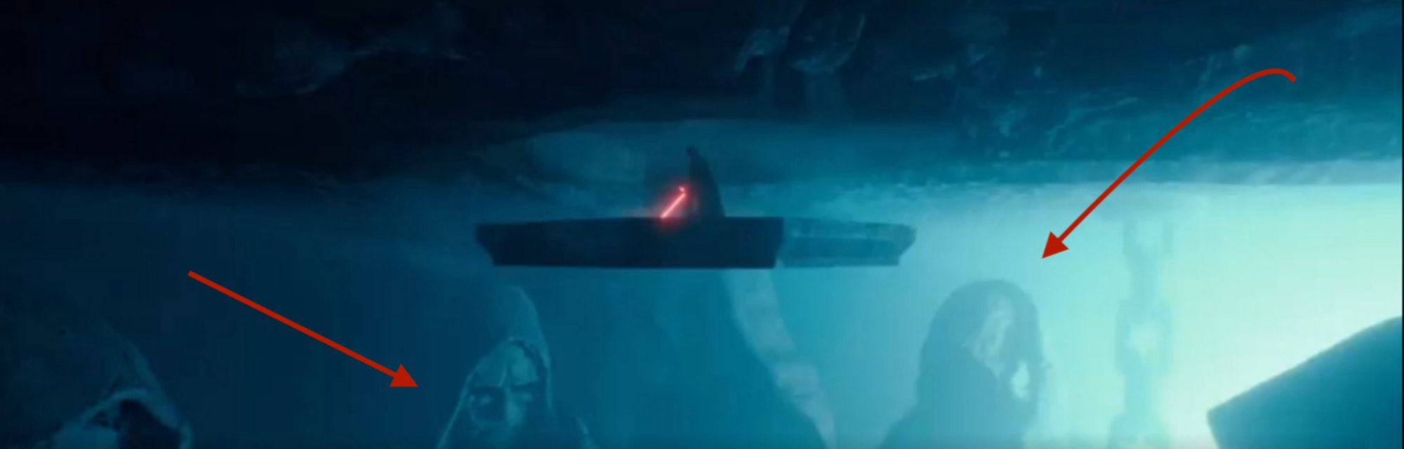 Star Wars 9 Spoilers New Clip Reveals Familiar Sith Faces In Palps Lair