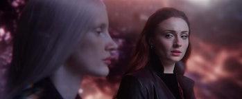Jessica Chastain and Sophie Turner in 'Dark Phoenix'