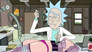 "Rick dissects the sex robot to trace its origins in ""Raising Gazorpazorp."""