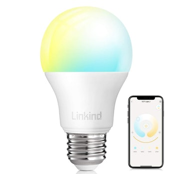 Smart WiFi Light Bulb, Linkind 9W LED Bulb, No Hub Required, Compatible with Alexa, A19 E26 800LM Starter Smart Lights, Soft White & Cold White, (2700k-6500k) Dimmable and Tunable
