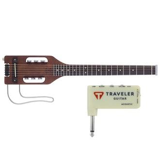 Traveler Guitar Ultra-Light Acoustic Travel Guitar + Headphone Amp
