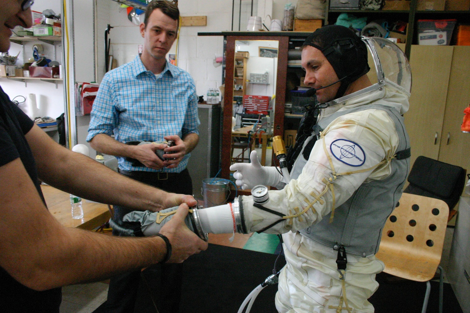 The spacesuit lab at Final Frontier Design.