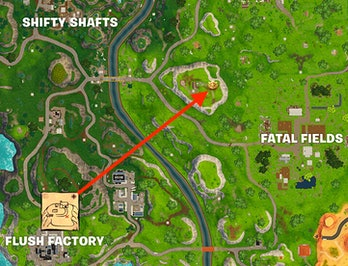 'Fortnite' Week 3 Flush Factory Treasure Map Location