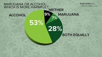 Most Americans say alcohol is more dangerous than marijuana.