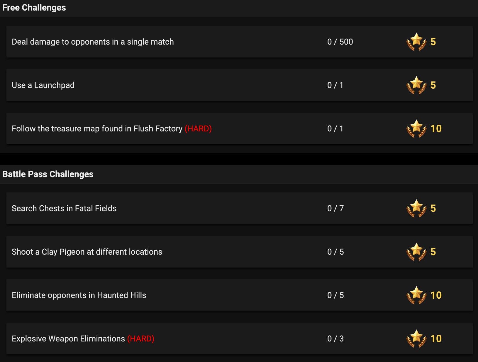 'Fortnite' Season 5 Week 3 Challenges