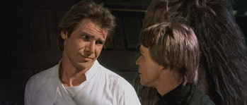 Han and Luke in 'Return of the Jedi'