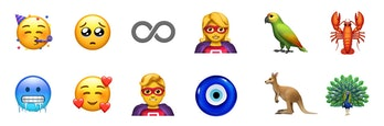 12 of Apple's 70 new emoji that will appear on devices later this year.