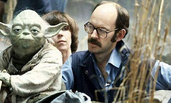Frank Oz on the set of 'The Empire Strikes Back'