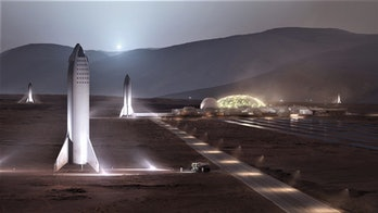 The concept image of a future Mars settlement.