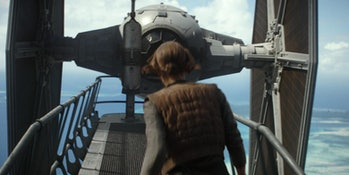 An Imperial TIE Fighter in 'Rogue One: A Star Wars Story'.