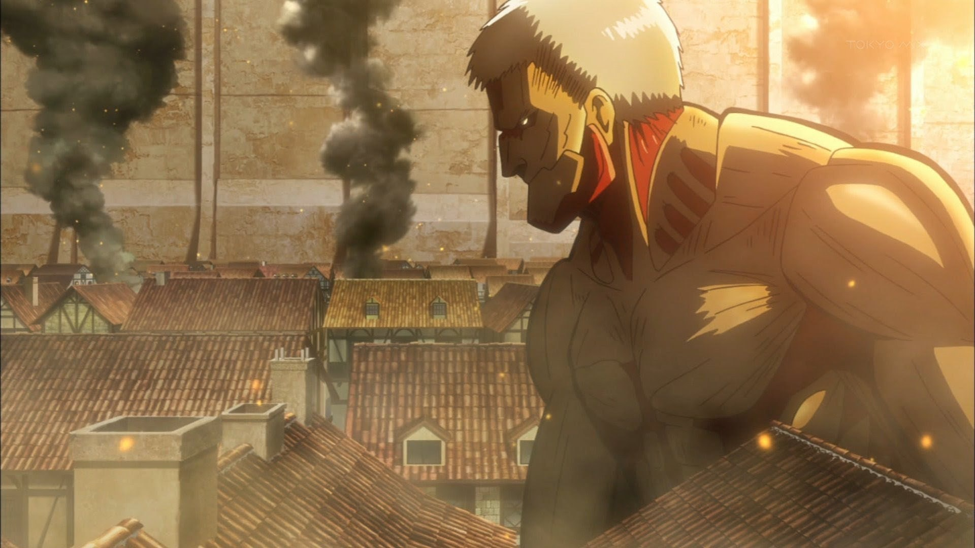 Reiner in his Armored Titan form.