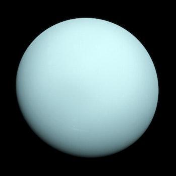 Uranus seen by Voyager 2.