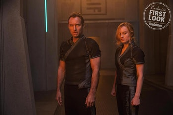 'Captain Marvel' Jude Law as Mar-Vell and Brie Larson as Carol Danvers