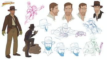 Patrick Schoenmaker's Indiana Jones design sketches.