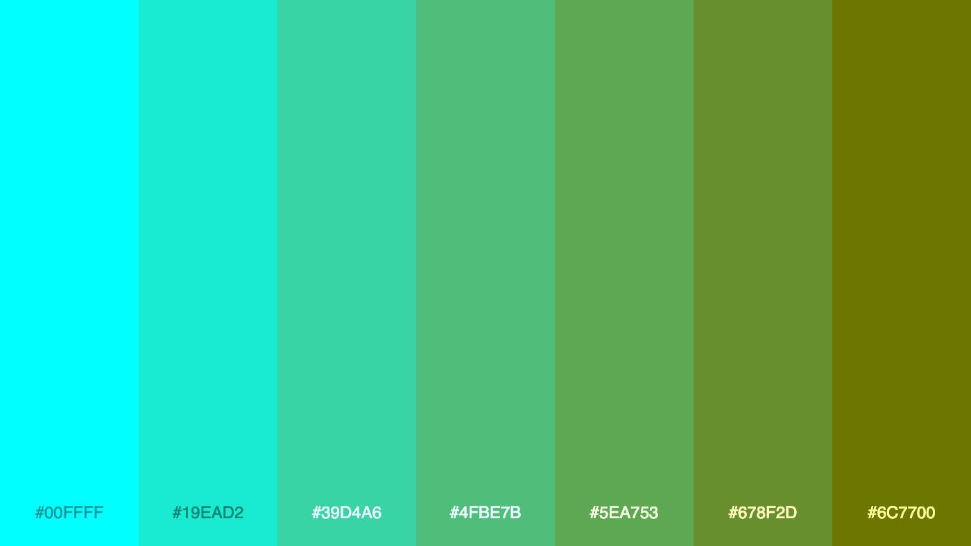 """Just another """"computer generated awesome color palette,"""" in the words of creator Mike Bespalov."""