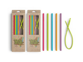 Softy Straws Assorted Silicone Reusable Straws