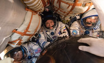 Space sickness affects many, possibly up to half, of the astronauts the first few days on the space station.