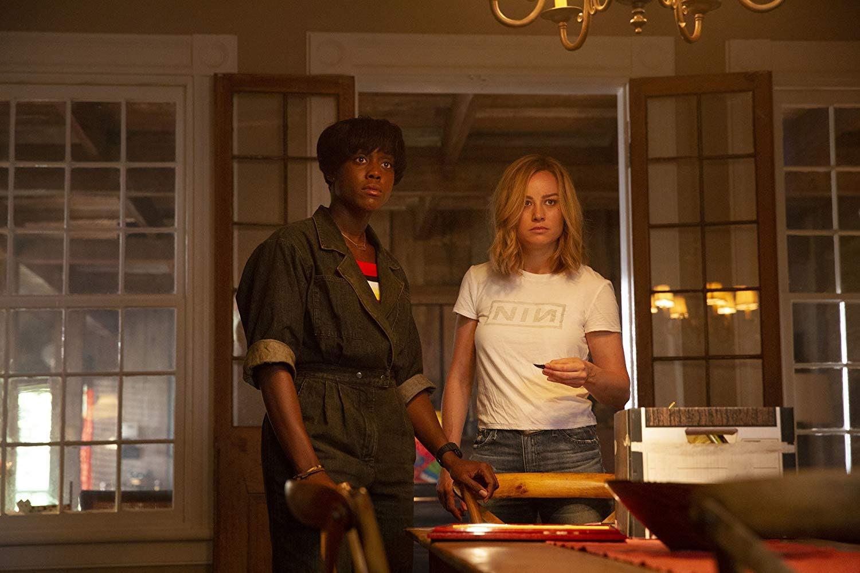 Lashana Lynch as Maria Rambeau (left) with 'Captain Marvel' co-star Brie Larson as Carol Danvers