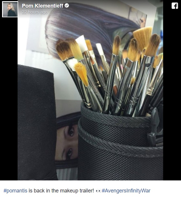 A screenshot of Pom Klementieff's Facebook post.