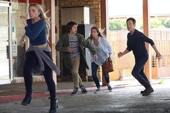 The Strucker Family on the run.