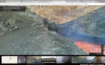 Marum Lava Lake Volcano Active Google Street View
