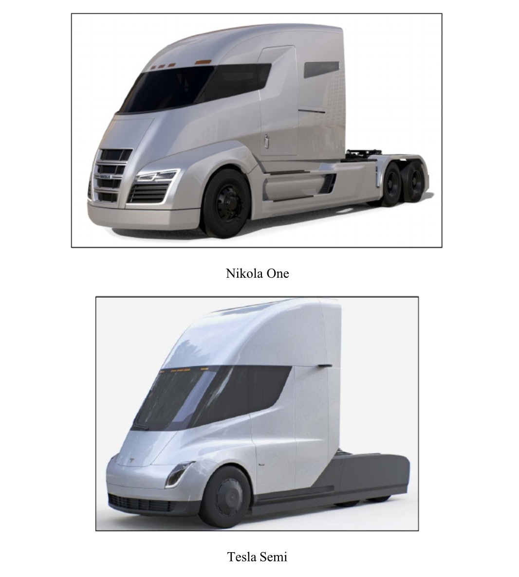 Mikola compares the Tesla Semi in court documents.