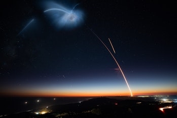SpaceX's capture of the launch.