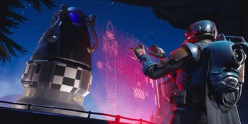 The 'Fortnite' Week 8 Blockbuster loading screen hints at impending disaster.