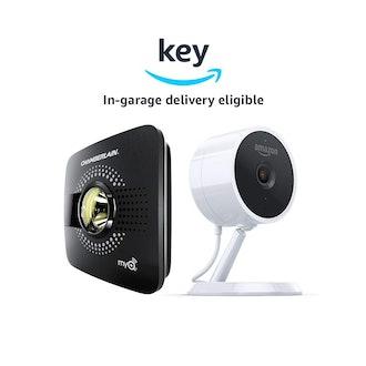 myQ Smart Garage Door Opener + Amazon Cloud Cam | Key Smart Garage Kit