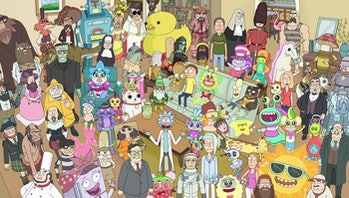 That time 'Rick and Morty' became a page in a 'Where's Waldo?' book.