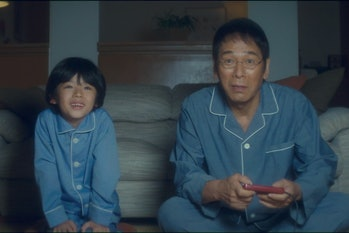 Akio and Hakutaro bonding over the original 'Final Fantasy' in the middle of the night.