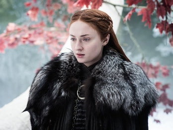"Sophie Turner as Sansa Stark in 'Game of Thrones' Season 7 episode 4 ""The Spoils of War"""